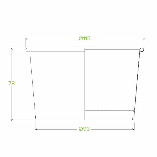 16oz Brown Paper Bowl Measurements - Dash Packaging
