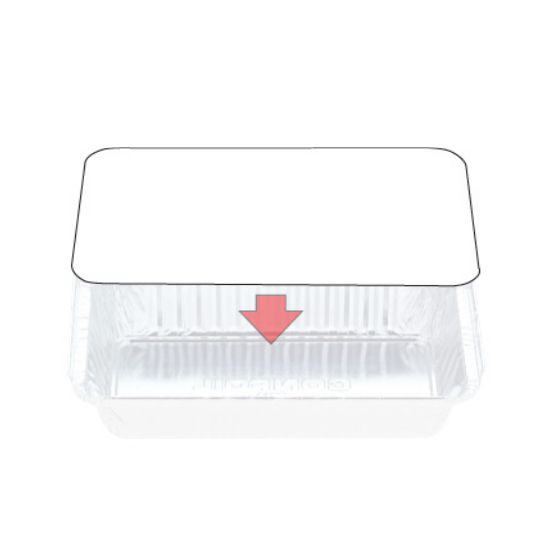 30oz Foil Container Lid - Dash Packaging