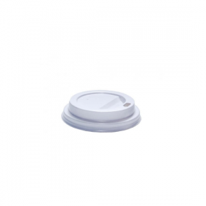 4oz White Coffee Cup Lid - Dash Packaging