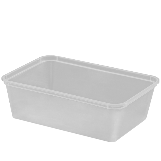750ml Freezer Grade Rectangular Containers - Dash Packaging