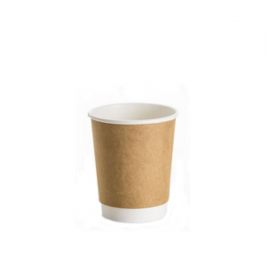 8oz Kraft Double Wall Coffee Cup - Dash Packaging