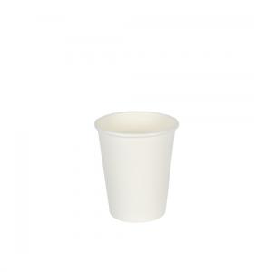 8oz White Single Wall Coffee Cups - Dash Packaging