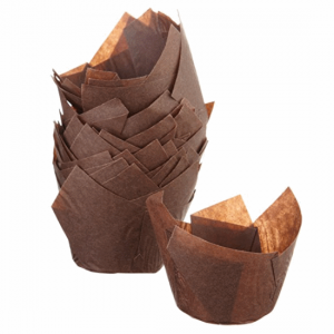 Chocolate Tulip Parchment Muffin Moulds - Dash Packaging