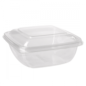 ICUBE 1000ml Square Hinge Lid Container - Dash Packaging