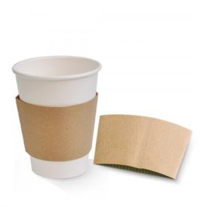 Kraft Coffee Cup Sleeve (Large) - Dash Packaging