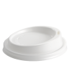 White Coffee Cup Lid - Dash Packaging