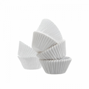 White Muffin Papers - Dash Packaging