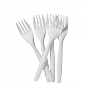 White Plastic Forks - Dash Packaging
