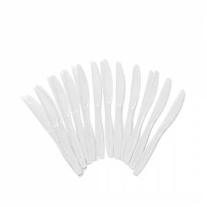 White Plastic Knives - Dash Packaging