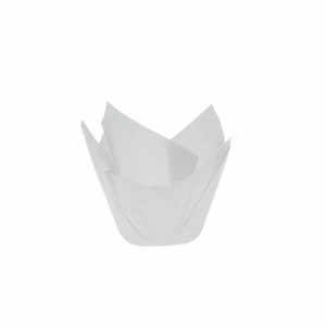 White Tulip Parchment Muffin Moulds - Dash Packaging